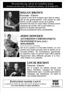 flyer stage musique cajun verso